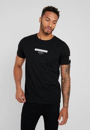 TEE OPTION - Print T-shirt - black