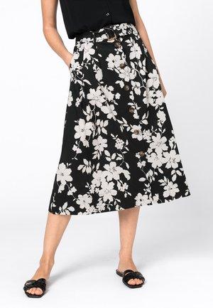A-line skirt - zwart