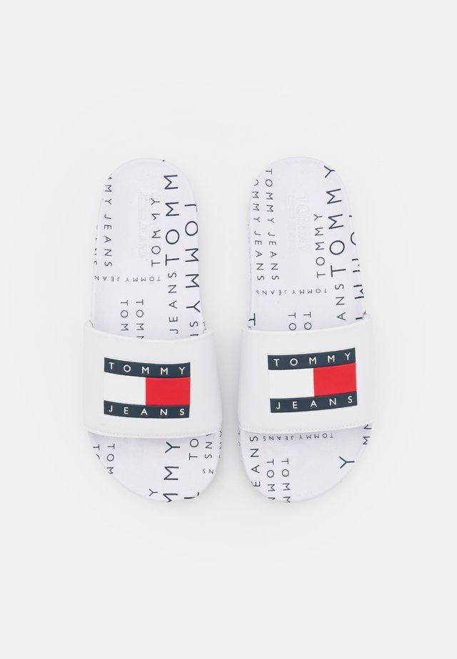 HERITAGE POOL SLIDE - Pantofle - white
