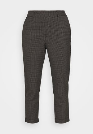 VMMAYA LOOSE THEA CHECK PANT - Pantalones - black