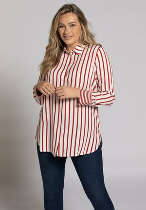 Button-down blouse - salsa