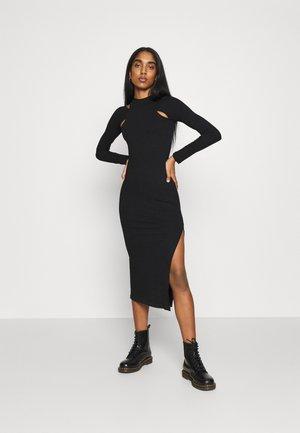 CUT OUT COLUMN - Vestito di maglina - black