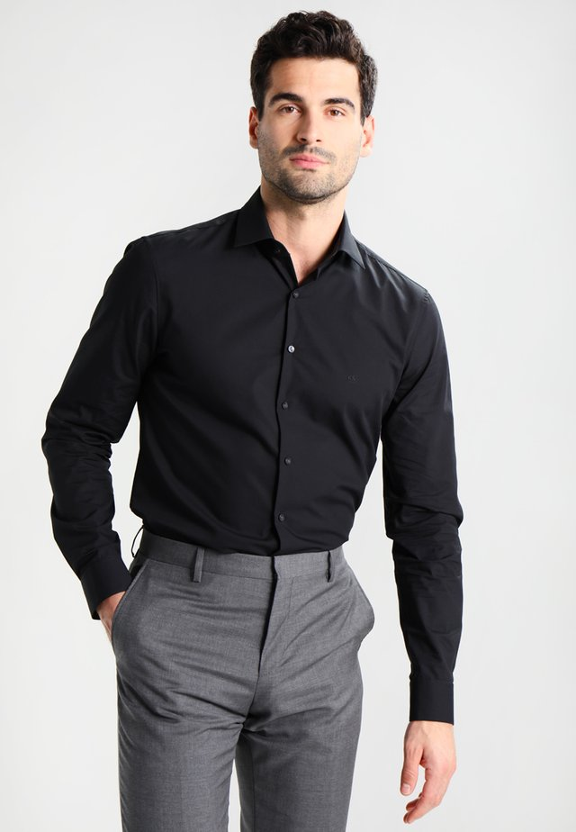 BARI SLIM FIT - Kauluspaita - black