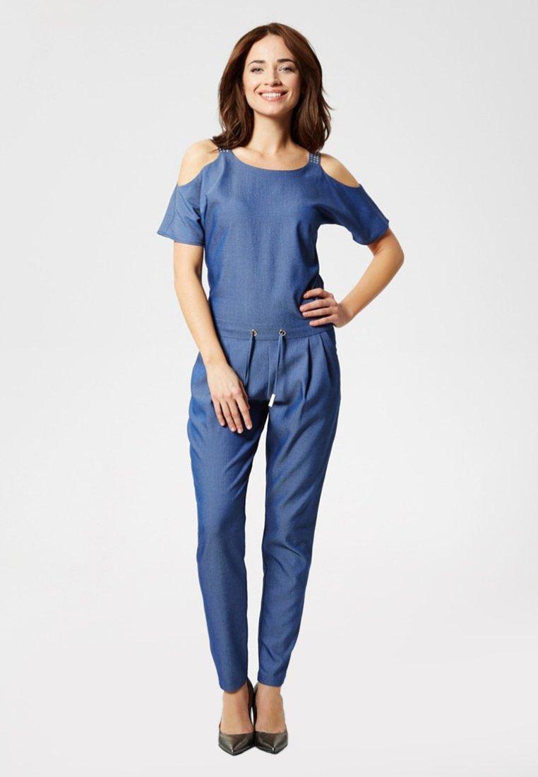 Super Specials Women's Clothing usha OVERALL Jumpsuit denim blue IpZGtLApe
