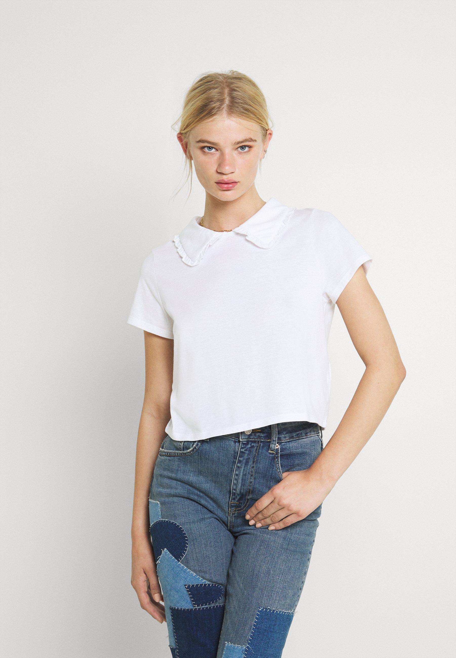 Femme COLLAR TEE - T-shirt imprimé