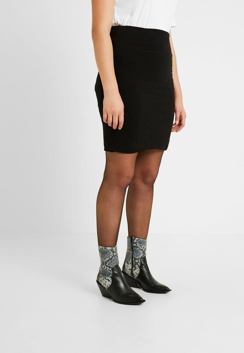Kaffe Curve - KCPIA SKIRT - Mini skirt - black deep