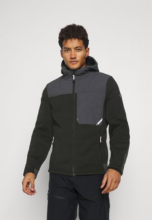 ALPS FULL ZIP HOODIE - Fleecová bunda - black
