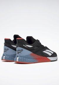 Reebok - NANO X - Chaussures d'entraînement et de fitness - black/white/vivid orange - 6