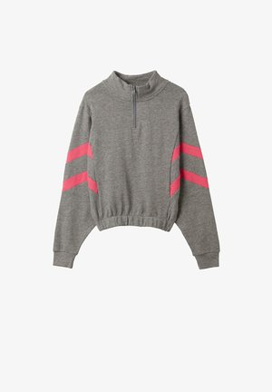 Sweatshirt - grigio antr.mel/fucsia pastello