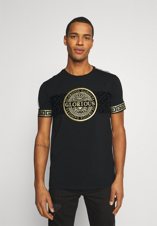 BOTTAGOT - T-shirts med print - black