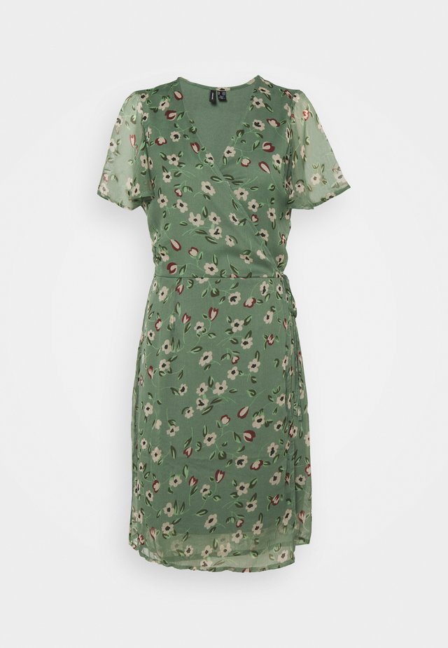 VMKAY WRAP DRESS - Day dress - laurel wreath