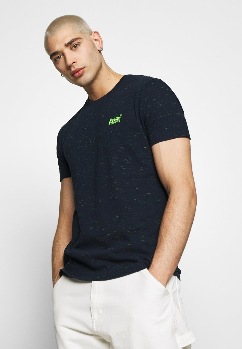 Superdry - VINTAGE CREW - Basic T-shirt - navy