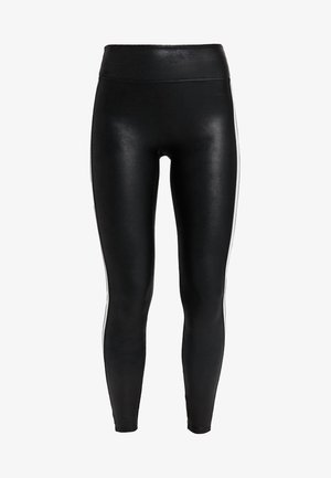 SIDE STRIPE LEG - Leggings - very black/white