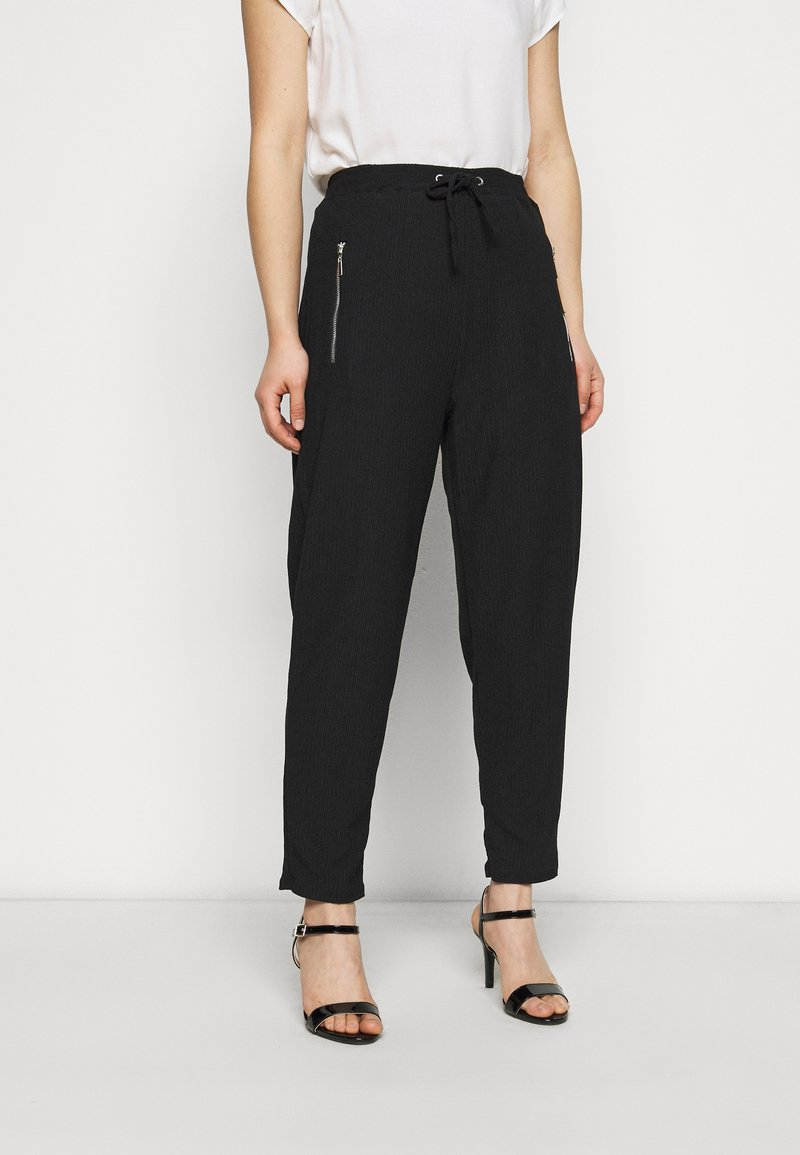 Wallis Petite - JOGGER - Tracksuit bottoms - black