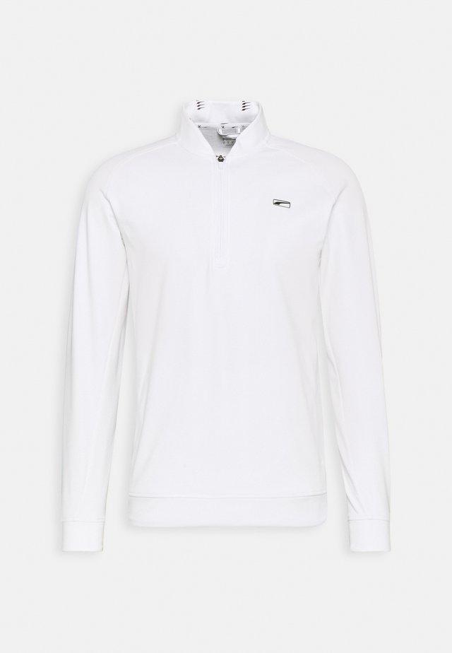 CLOUDSPUN MOVING DAY ZIP - Sweater - bright white