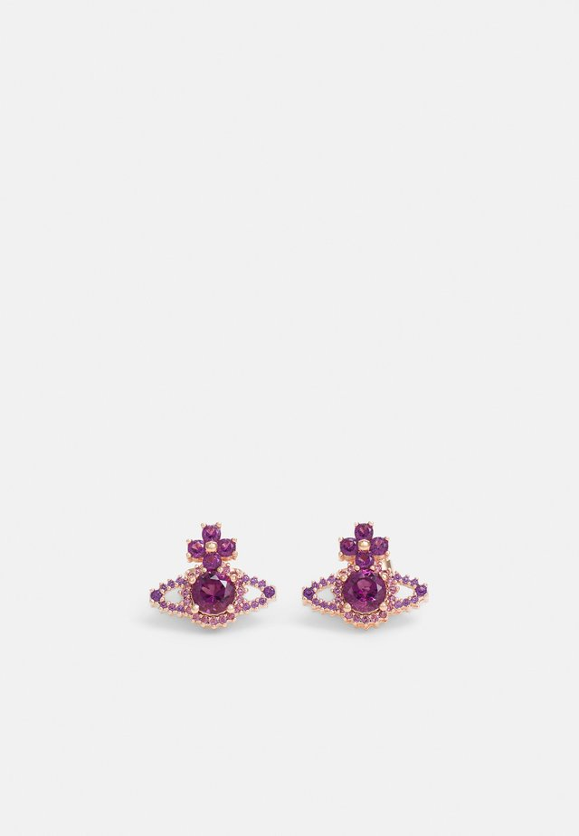 VALENTINA ORB EARRINGS - Örhänge - rose gold-coloured/purple