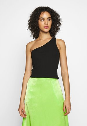ONE SHOULDER - Débardeur - black