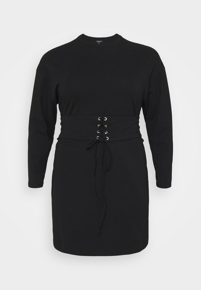CORSET DRESS - Kjole - black