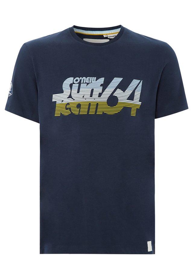 T-shirt imprimé - dunkelblau