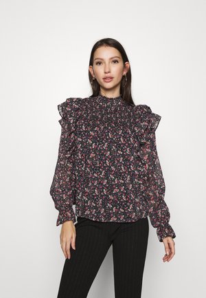 ONLJENNIFER FLOUNCE - T-shirt à manches longues - black