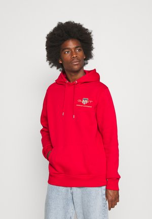 MEDIUM ARCHIVE SHIELD HOODIE - Sweatshirt - port red