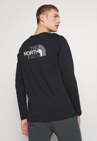 The North Face - MENS EASY TEE - Bluzka z długim rękawem - black/zinc grey - 2