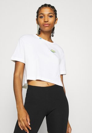 TEE WORLDWIDE CROP - T-shirt z nadrukiem - white