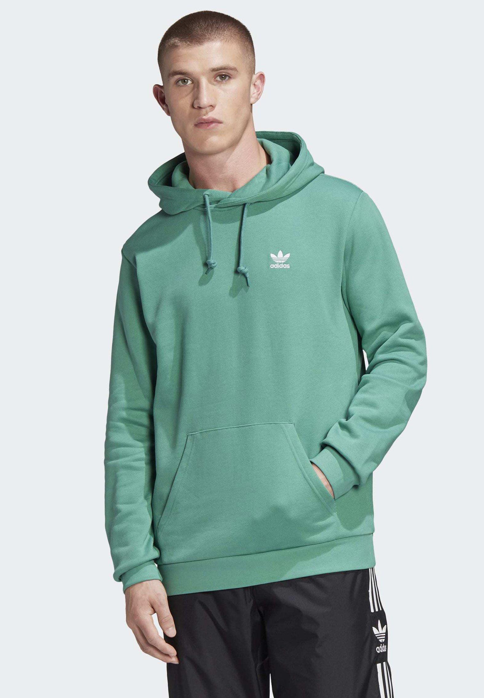 adidas Originals Herren Trefoil Essentials Hoodie Weiß