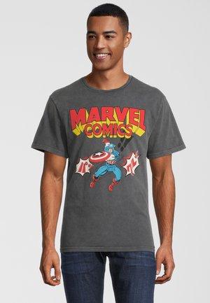 MARVEL COMICS CAPTAIN AMERICA  - T-shirt print - grau