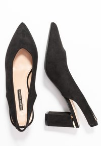 Dorothy Perkins - EMILY BLOCK HEEL SLINGBACK COURT - Classic heels - black - 3