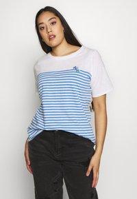 MY TRUE ME TOM TAILOR - Print T-shirt - whisper white/white - 0