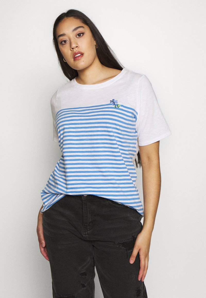 MY TRUE ME TOM TAILOR - Print T-shirt - whisper white/white