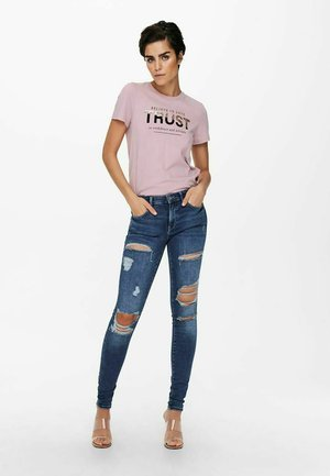 Print T-shirt - dawn pink