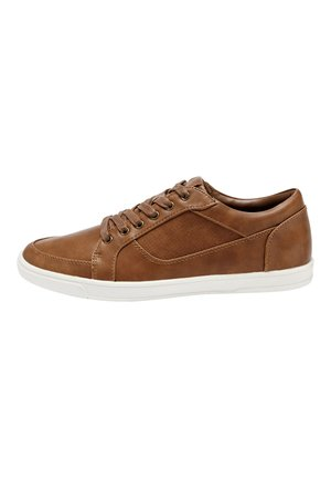 TAN PERFORATED TRAINERS - Sneakers - brown
