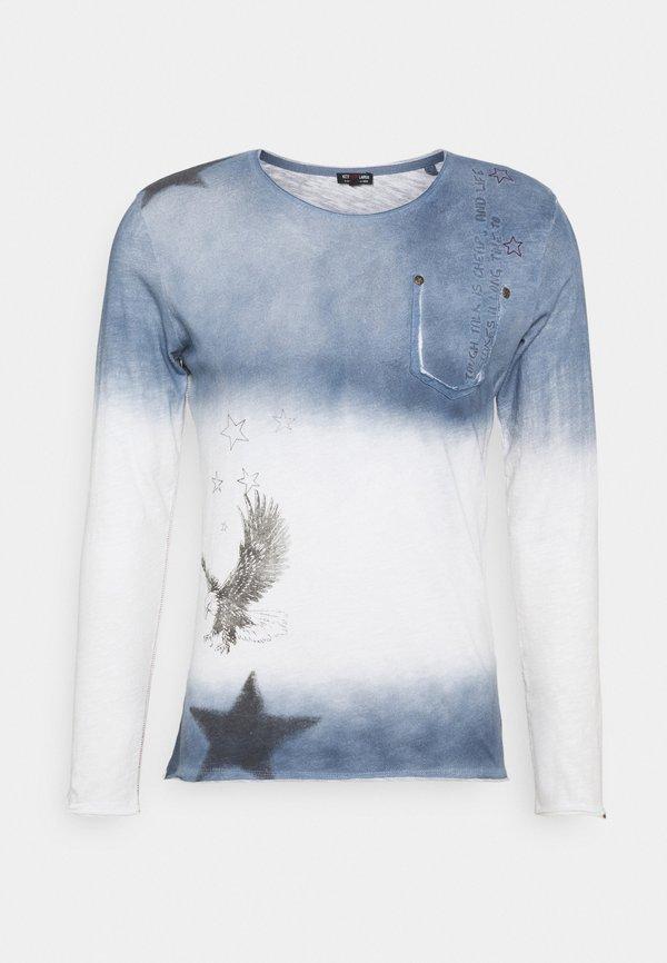 Key Largo ENDEAVOUR ROUND - Bluzka z długim rękawem - derby blue/niebieski Odzież Męska MOGZ