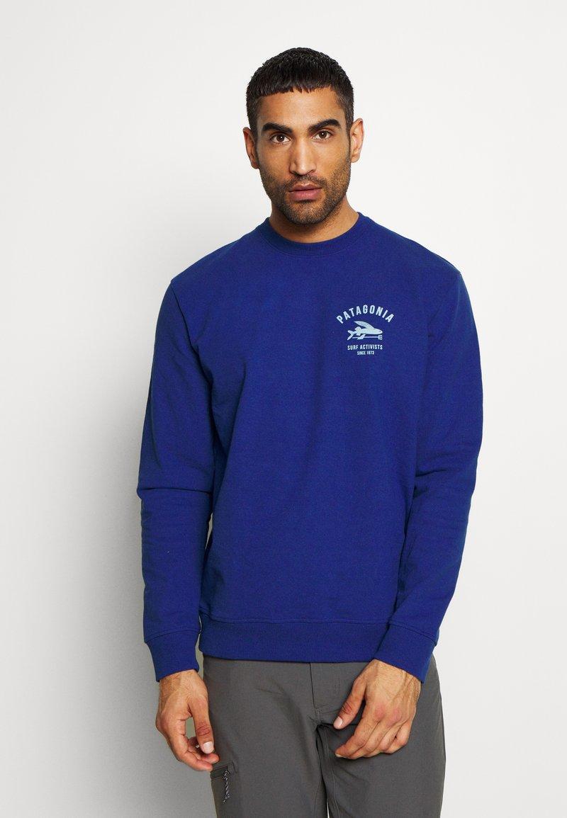 Patagonia - SURF ACTIVISTS UPRISAL CREW  - Sweatshirt - superior blue