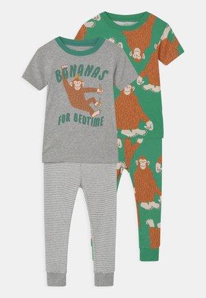 MONKEY 2 PACK - Pyjama set - green/mottled