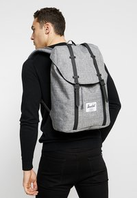 Herschel - RETREAT - Rucksack - raven crosshatch / black rubber - 1