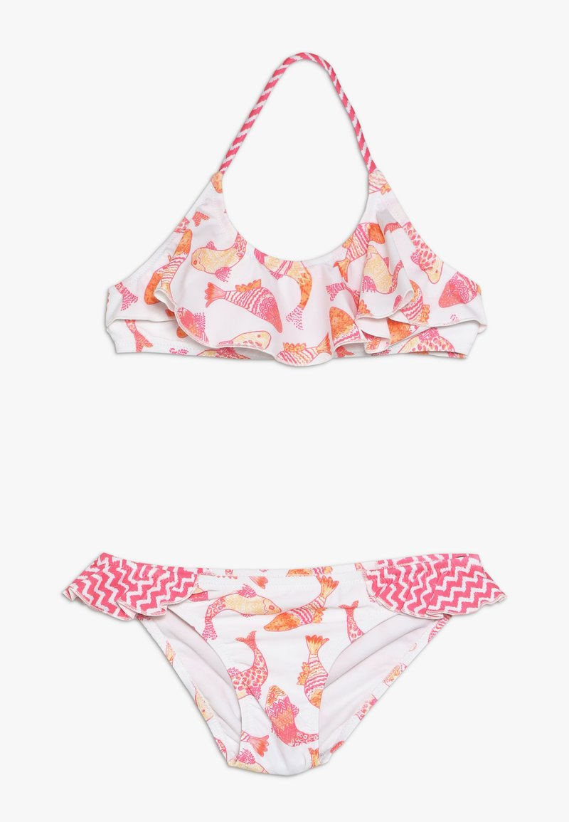 Sunuva - GIRLS BATIK FISH HALTER FRILL - Bikini - pink