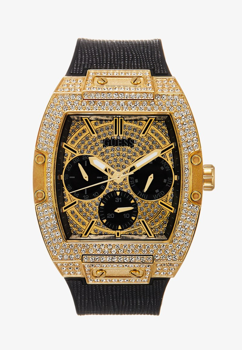 Guess - MENS TREND - Kronografklokke - black/gold-coloured