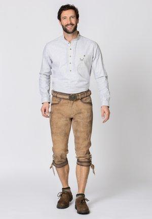 SIGGI - Leather trousers - rauch geäscht