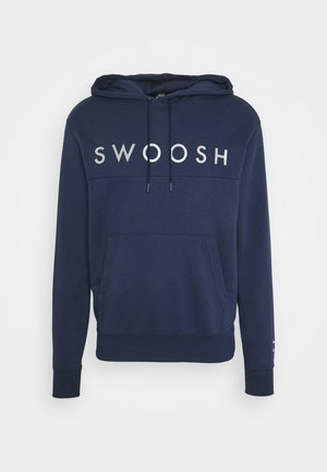 HOODIE - Jersey con capucha - midnight navy/silver foil