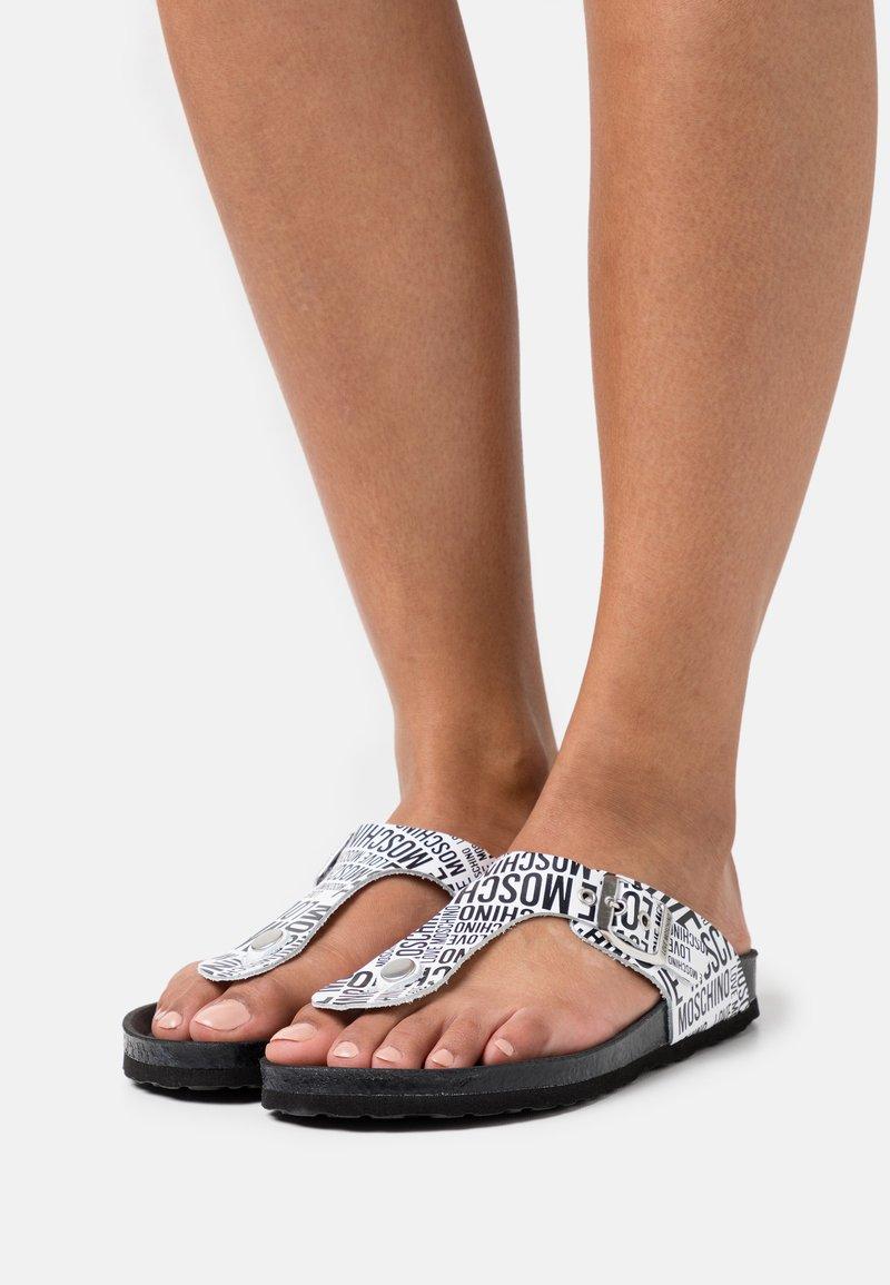 Love Moschino - T-bar sandals - fantasy color