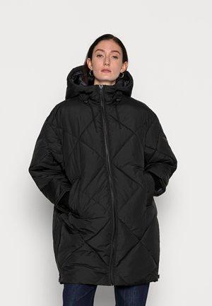 MID LENGTH PUFFER JACKET BIG HOOD - Winter coat - black