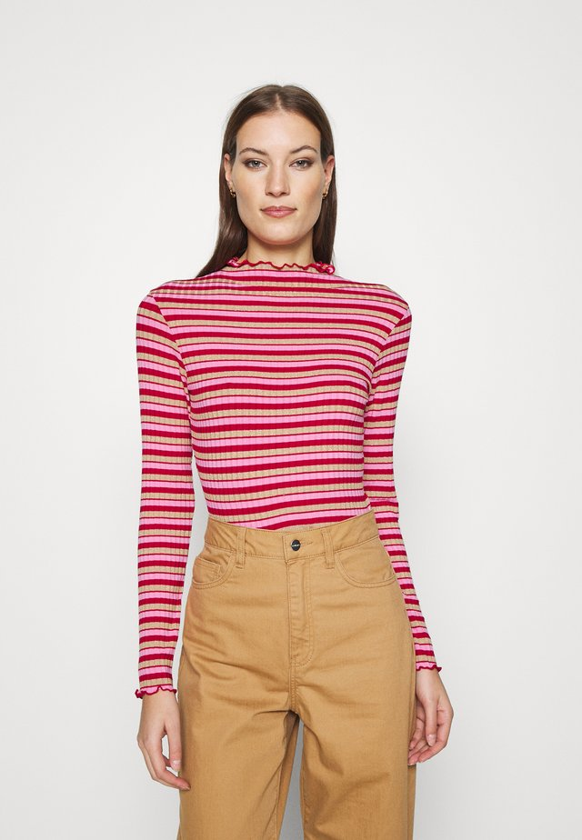 SPARKLE STRIPE TRUTTE - Long sleeved top - red/multi