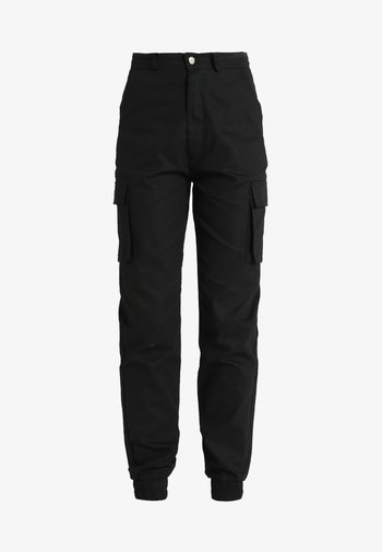 PLAIN CARGO TROUSER - Cargo trousers - black