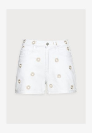 VMJOANA PETITE - Denim shorts - bright white