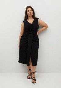 Violeta by Mango - SHARI - Wrap skirt - black - 1