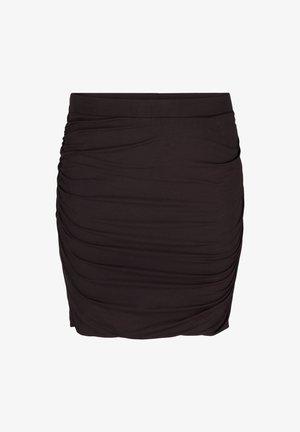 CLOSE-FITTING  - Mini skirt - black