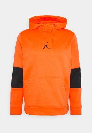 AIR THERMA - Bluza z kapturem - total orange/black